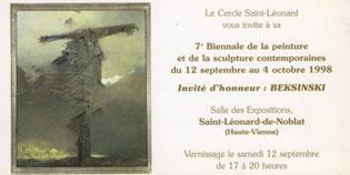 Carton invitation Biennale 1998 recto