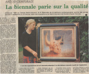 "Article ""Le Populaire"" 31/08/1992"