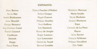 Carton invitation Biennale 1998 verso