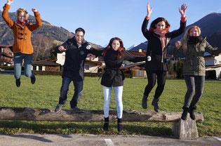 Ein Teil unseres jungen Teams im Bezirk: Elisabeth Fleischanderl, Robert Palaver, Sabrina Steidl, Victoria Weber und Melanie Ebster