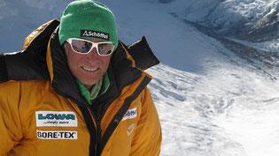 Ralf in Lager III auf 7100 m © G.Kaltenbrunner