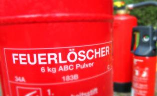 Feuerlöscher im Shop von Arne Wittorf