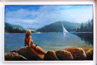 * 206a- Le lac de Gérardmer, 35 X24