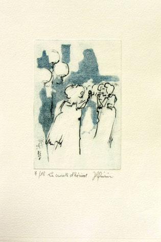 *913- La guinguette de La Croisette 20 x 30, vélin d'Arches