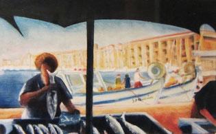 Sur le vieux port à Marseille