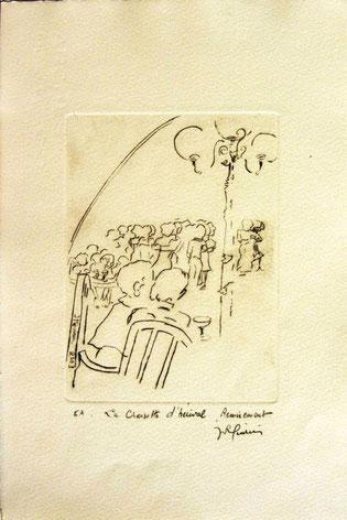 *926- La guinguette de La Croisette 20 x 30, vélin d'Arches