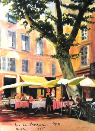 443- La place Puget à Aix-en-Provence