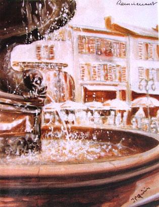 452- La fontaine des Dauphins à Remiremont
