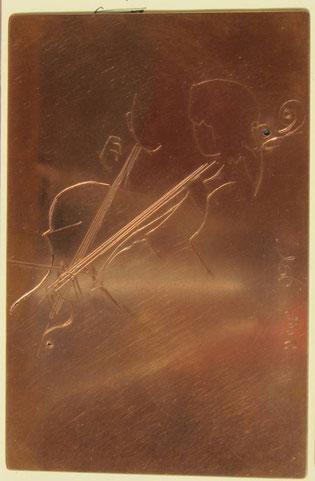 La plaque gravée de Brigitte et Jacques