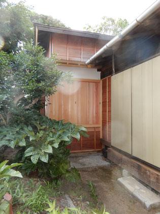 古民家再生 修復工事 木製雨戸
