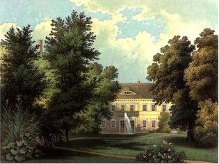 Schloss Kartzow bei Potsdam, historische Ansicht
