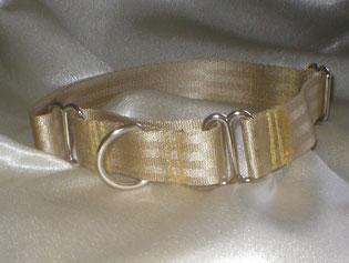 Martingale, Halsband, 2,5cm, Gurtband champagnerfarben