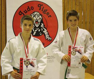 die Bronzemedaillengewinner: Johannes Koschel li. und Tom Böhling