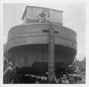 ST. JOSEPH - WILLI 1961 beim Umbau und der Motorisierung