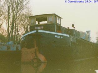 Liegeplatz im Kiesloch in Speyer am 25.04.1987, zur Verfügung gestellt von Gernot Menke