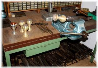 Silberschmiede Werkzeuge Formen Teile