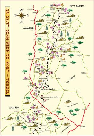Road Book Espagne Voyage Vibraction Randonnées Tout Terrain 4x4 pistes Saint Jean Pied De Port Teruel