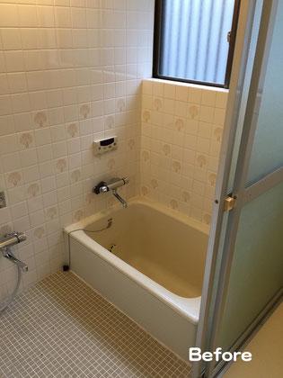 タイル張り浴室解体前