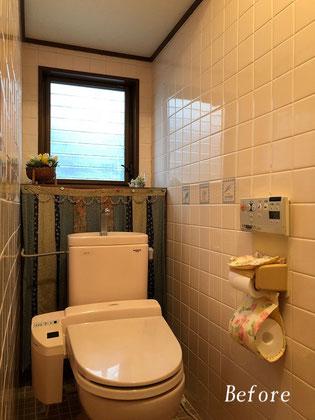 既設トイレ解体前(タイル張り)