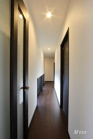 廊下改修工事後