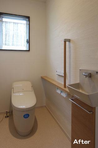 トイレ工事後(幅拡張)タンクレストイレ設置