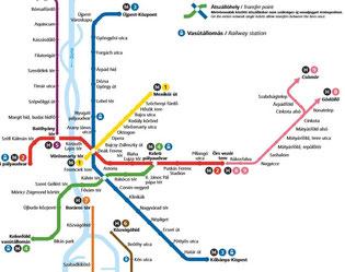 Mappa metropolitana di Budapest