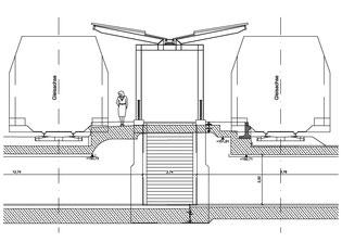 Längsschnitt Personentunnel
