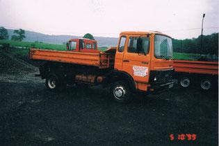 Einer der ersten LKW's - ein 7,5to Iveco 80-13 (nicht mehr im Inventar)