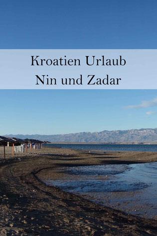 Zadar, Nin, Ninska Laguna, Küste Kroatien.