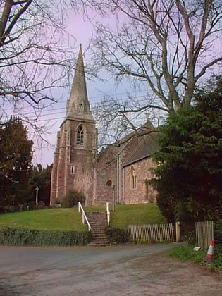 A photograph of Lindridge church