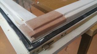 Reparatur eines schadhaften Fensterflügels (vorm Lackieren)