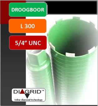 kernboor of diamantboor dunwandig diameter 18mm tot 132mm 400mm nuttige lengte aansluiting 1/2gas voor nat te boren in beton en gewapend beton