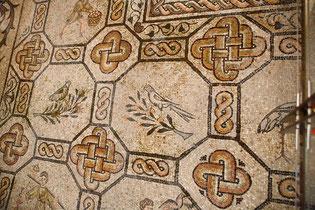 Particolare del Mosaico all'interno della Basilica di Aquileia