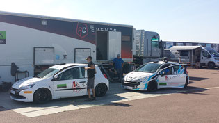 Sortie à Pouilly avec la Clio Cup et la 207 RC