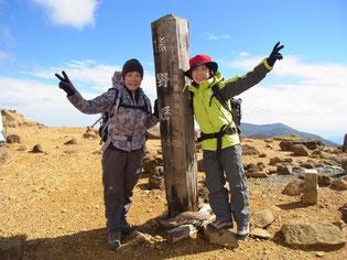 蔵王山、最高峰の熊野岳で