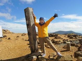 現在は、この最高峰の熊野岳まで登れます。