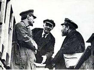 (Trotzkij, Lenin, Kamenev)