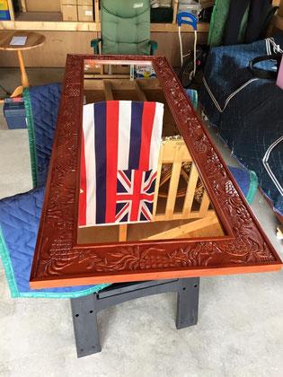 ハワイアン家具パイナップルミラー