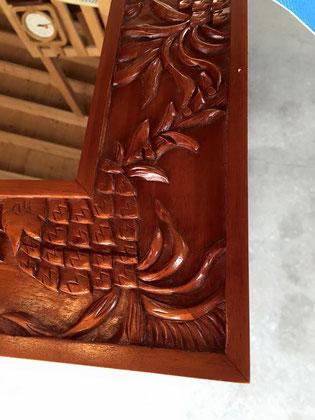 ハワイアン家具パイナップルミラー2