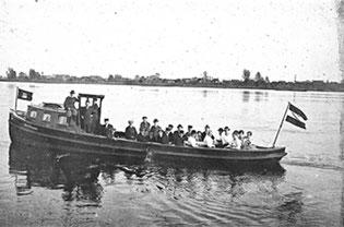 Bootstour 1. Mai 1919 auf der Elbe
