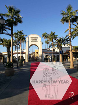 Happy new year RoLa in Hollyood, Universal Studios