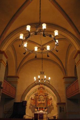 Blick nach Osten zum Altar