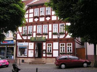 Neubau des früheren Hauses Strauss Töpferstraße 150 im Fachwerkstil. (Foto: E.Sternberg-Siebert)