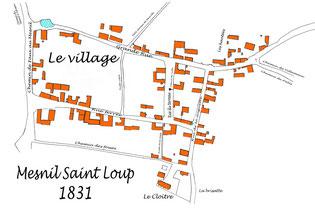 Plan de Mesnil en 1831 - Cliquez pour agrandir