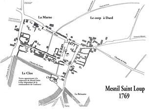Plan de Mesnil de 1769 - Cliquez pour agrandir