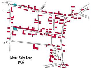 Plan de Mesnil en 1906 - Cliquez pour agrandir
