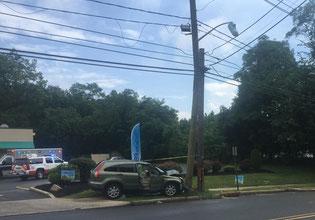 MVA - Car into pole on North Ave