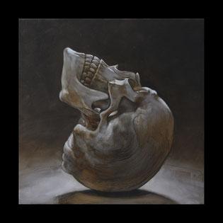 """Clair de lune """"le poète"""" - Huile sur toile 40X40"""