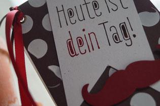 Geburtstagskarte Stampin´Up! Schokobraun und cili!