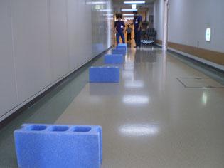 施設の廊下も有効活用